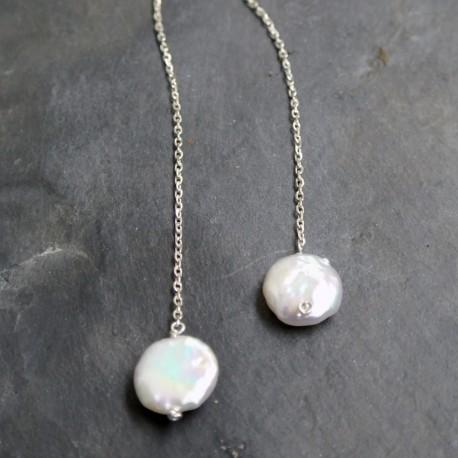 Collier écharpe perles d'eau douce