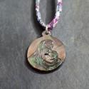 Médaille en nacre noire sur lien liberty 30e