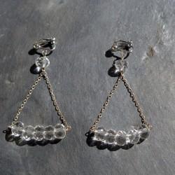 Boucles d'oreilles Bermudes en cristal de roche