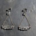 Boucles d'oreilles Bermudes en cristal de roche 40e