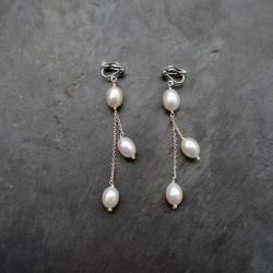 Boucles d'oreilles Saqqarah en perles d'eau douce