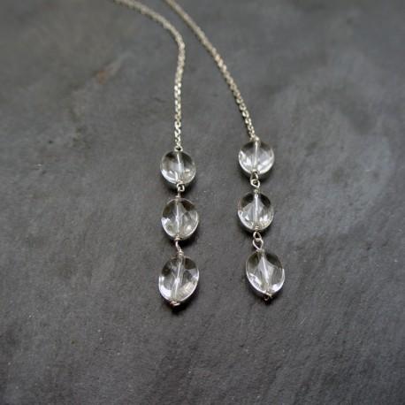 Collier écharpe 6 cristaux de roche
