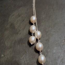 Collier écharpe 6 perles d'eau douce