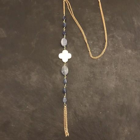Sautoir Cravate cyanites 80e